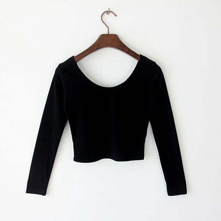 包邮一件代发代销货源性感上衣打底衫女长袖t恤2019女装棉t恤衫