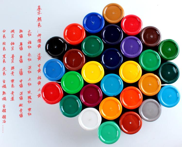 供应美术颜料 彩绘涂鸦颜料 墙画手绘颜料 文萃正品300ml丙烯颜料