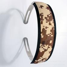 厂家直销车缝耳机护套 PU帆布海绵热压成型车缝头带 低价批发护套