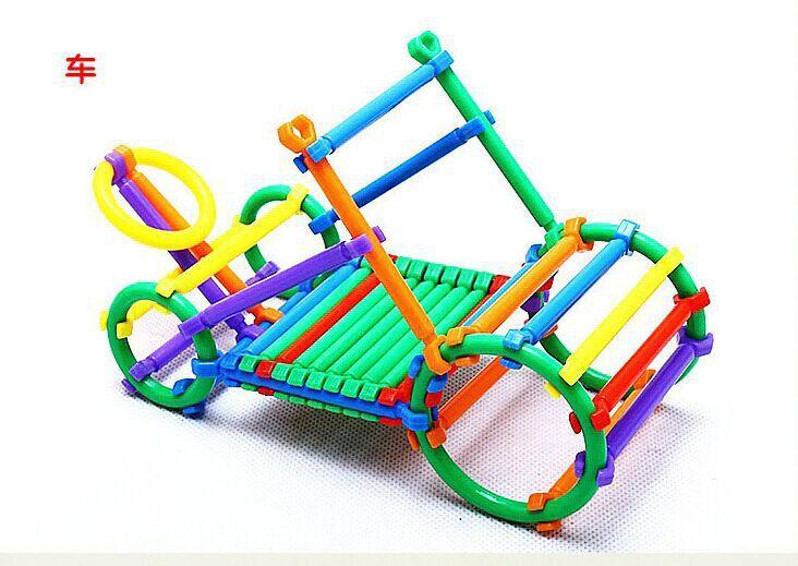 聪明棒积木 儿童玩具幼儿园桌面拼装积木 百变diiy塑料拼插玩具