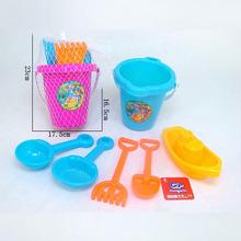 儿童沙滩玩具 厂家直销批发 广场地摊小玩具沙滩桶大沙漏6件套
