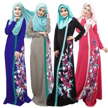 Muslim民族长裙数码印花多色多码阿拉伯长袍现货供应026