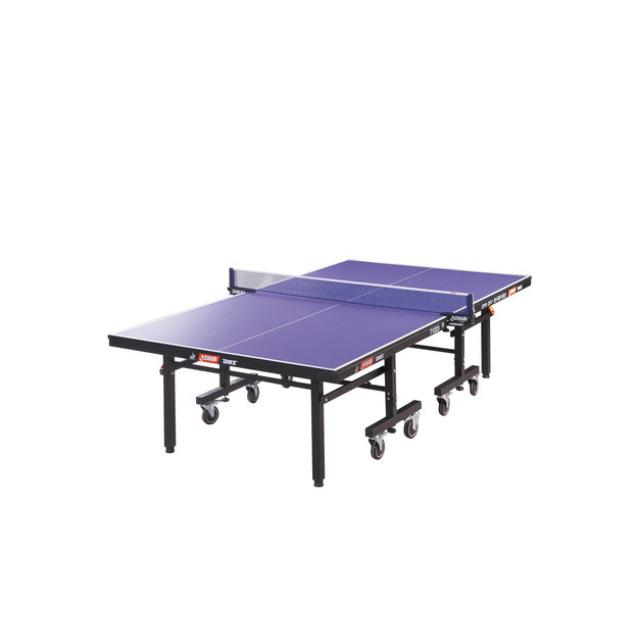T1223红双喜正品单折式乒乓球台 家庭室内可移动多功能乒乓球桌