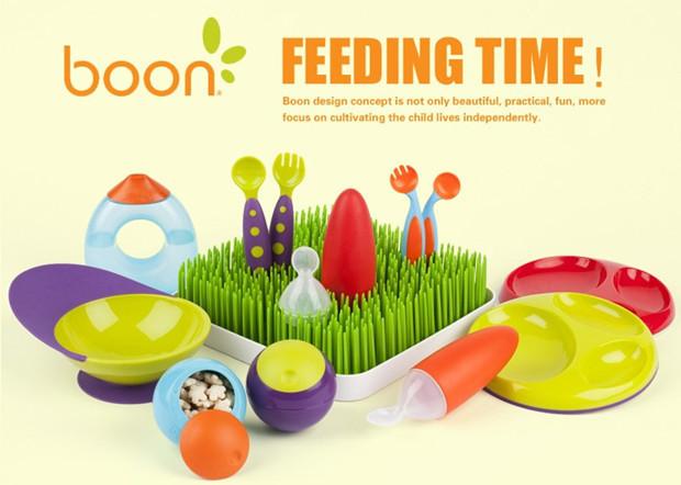 现货美国boon宝宝训练3叉子 3勺子套装婴儿童直角学习餐具