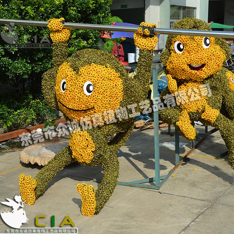 猴子雕塑_纯手工仿真动物猴子雕塑