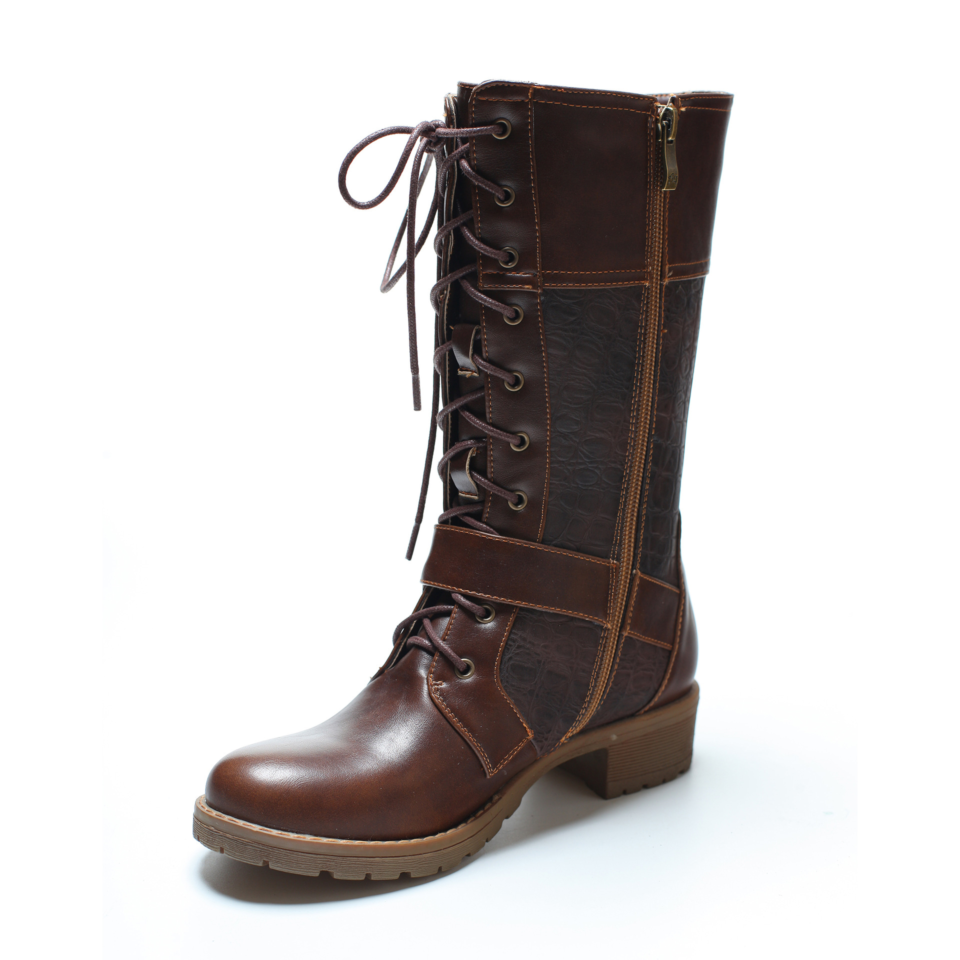 MOQ 10 pairs New leather big size boots