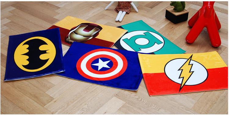 韩式漫威标志造型地垫 地毯 居家创意踏垫 卧室脚垫 可定