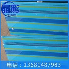 厂家供应 平板喷绘系列夹丝玻璃 6+6工程夹丝玻璃 彩色防爆玻璃