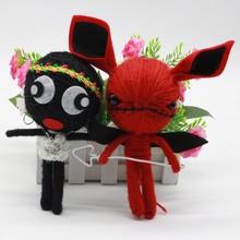 韩版创意毛线巫毒娃娃公仔diy手工毛衣链个性包包挂饰尾货实惠