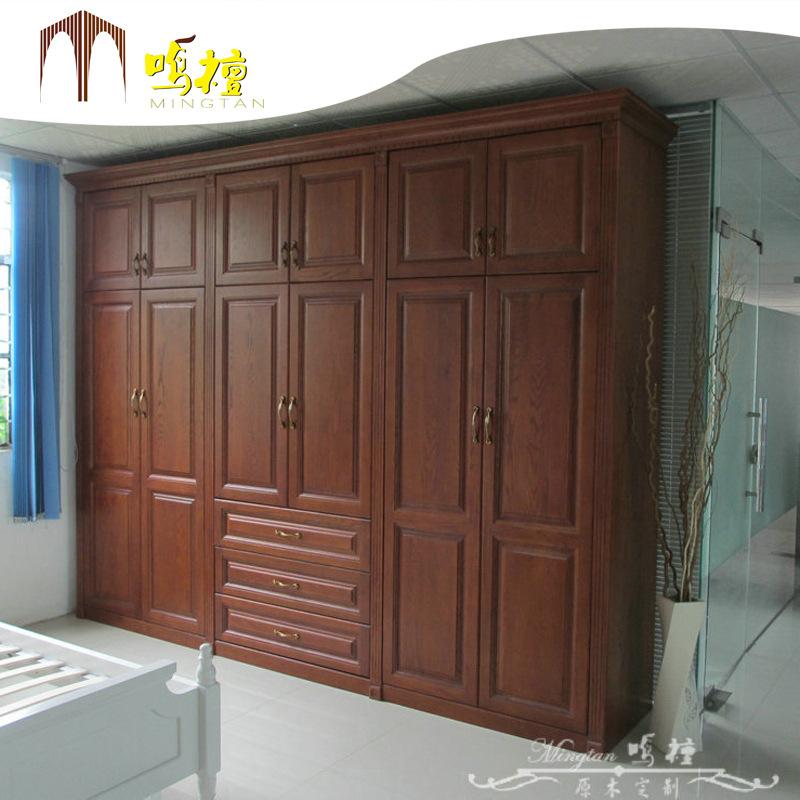 实木衣柜厂批发供应实木衣柜 实木掩门衣柜 原木定制衣柜