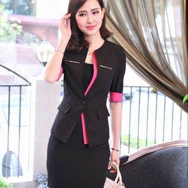 供应 新款长袖职业西装套装 OL通勤职业套装 行政装套装