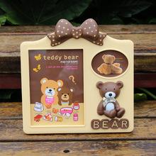 创意卡通小熊相框 7寸3寸组合相架 泰迪熊儿童宝宝摆台礼品批发