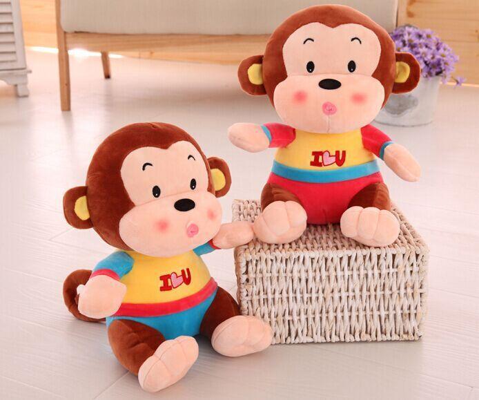 2016新年喜庆猴可爱小猴子love猴毛绒玩具