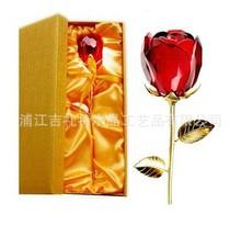 批发零售水晶高档玫瑰花母亲节圣诞情人节送老婆恋人婚庆创意礼品