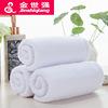 酒店純棉白色毛巾32股純棉工廠定制白色毛巾火療賓館白毛巾批發