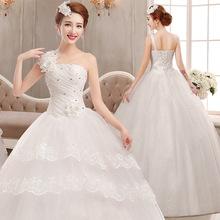 婚紗禮服2020夏新款新娘抹胸大碼顯瘦結婚韓式齊地綁帶婚紗女修身