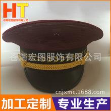 经销供应 武汉地铁高铁夏网眼大盖帽大沿帽大檐帽红色大盖帽