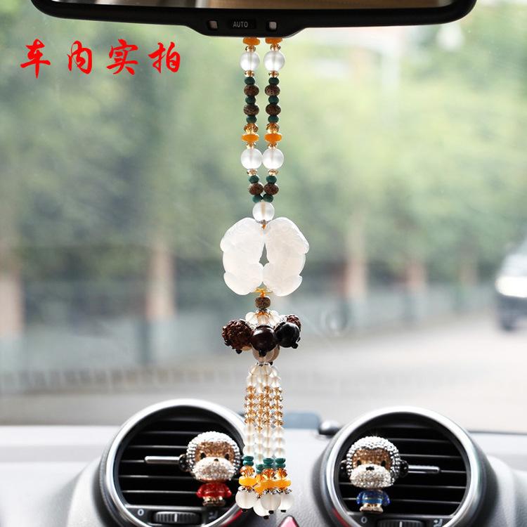 汽车挂件 汽车挂件 双貔貅车挂 星月菩提珠串金刚一件代发 阿里巴巴高清图片