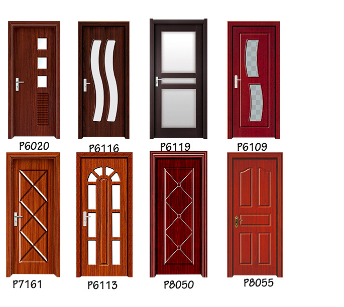 Toilet Pvc Bathroom Door Price Sample