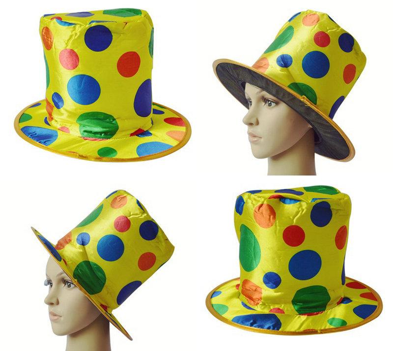 万圣节用品舞会服饰舞台表演道具小丑扮装小丑帽子高帽礼帽魔术师-图片