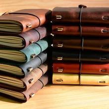 正品旅行记事本 复古真皮笔记本手工活页本子 牛皮日记本定制