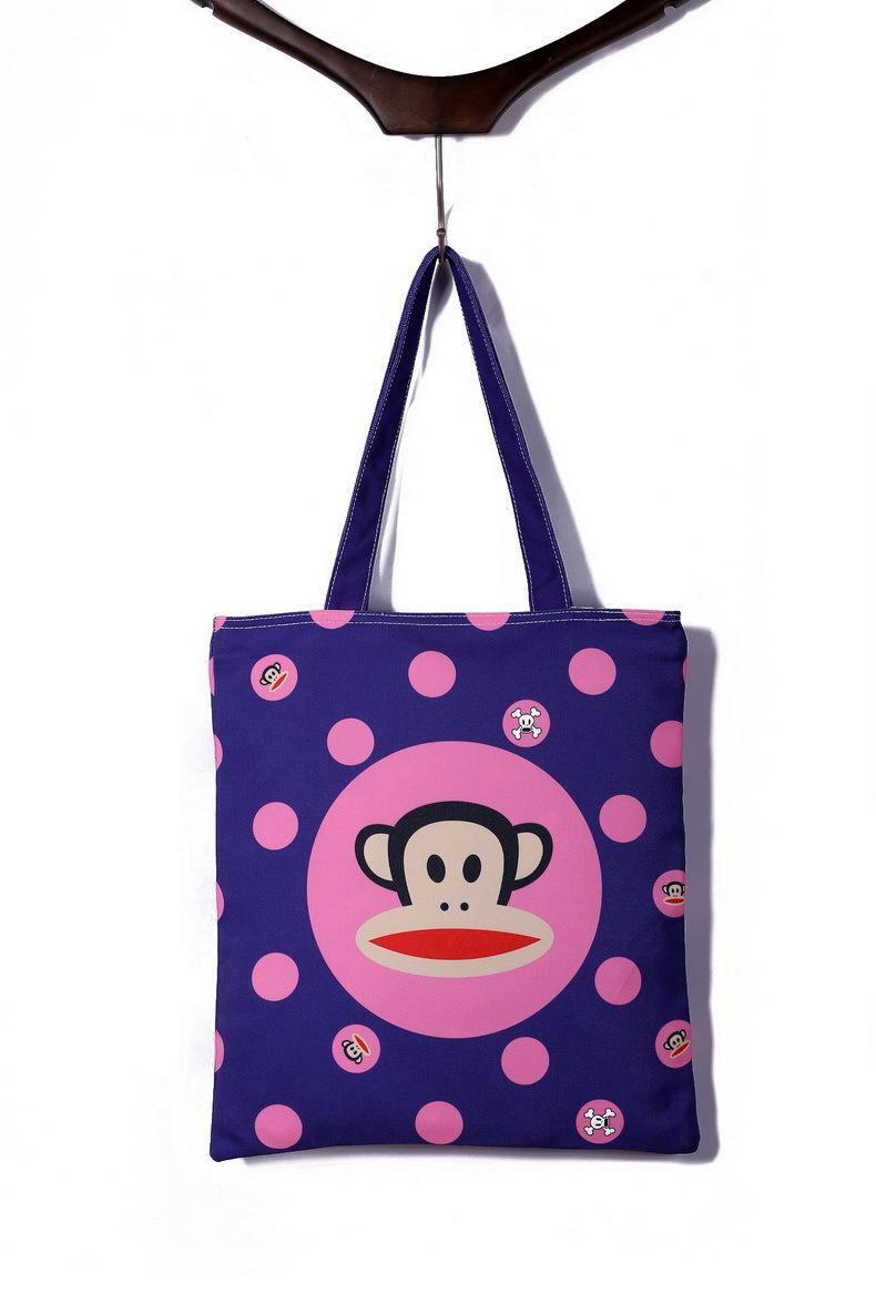 优宝乐 厂家外贸出口数码印花大嘴猴环保购物袋帆布袋手提袋
