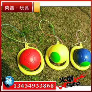 Wholesale children jumping ball jump ball QQ Dancer fitness ball bouncing on one leg thrown ball of the foot yo-yo toy