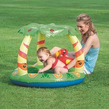 原装Bestway遮阳充气戏水池婴幼儿游泳池沙池浴盆球池充气底52179