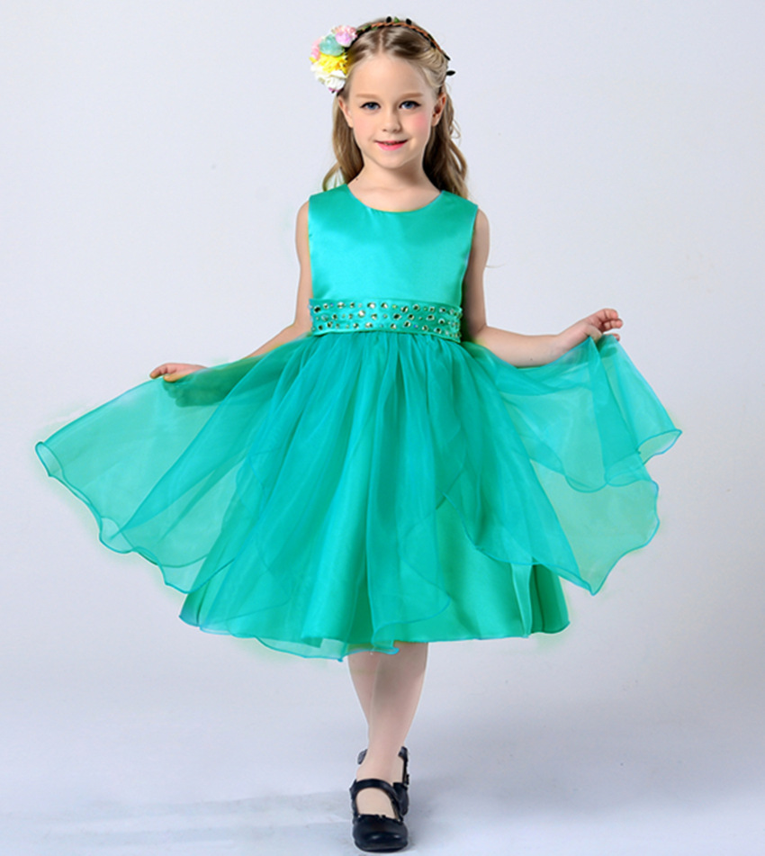 Girls Party Dress Kids 2016 Designer Children Teenagers Prom Party ...