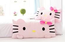批發毛絨玩具凱蒂貓長條抱枕單雙人枕頭大靠背一件發貨