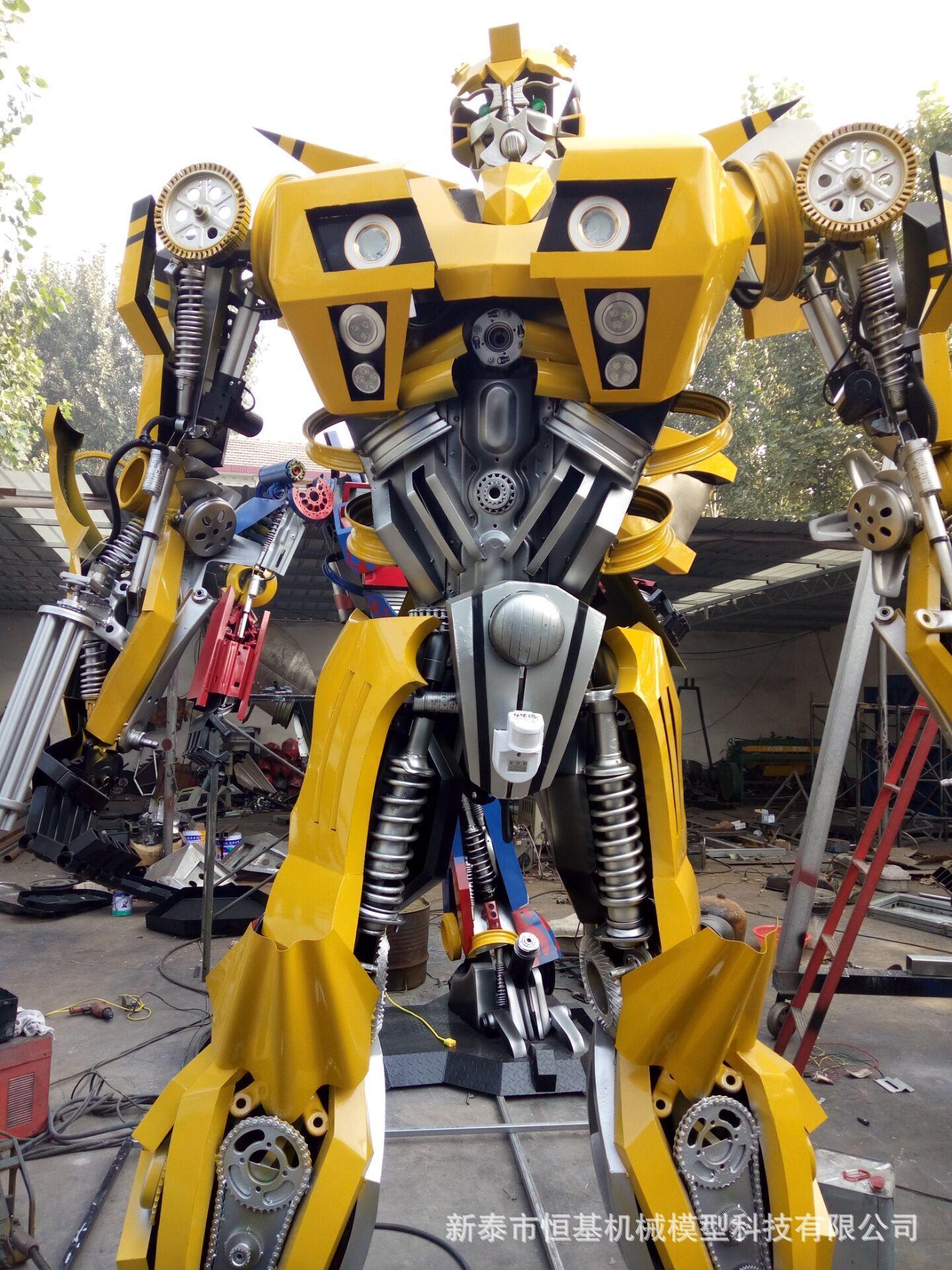 大黄蜂直销软件_厂家直销大型电动变形金刚机器人大黄蜂模型