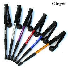 Cleye 铝合金四节避震直柄登山杖拐杖手杖徒步户外用品厂家直销