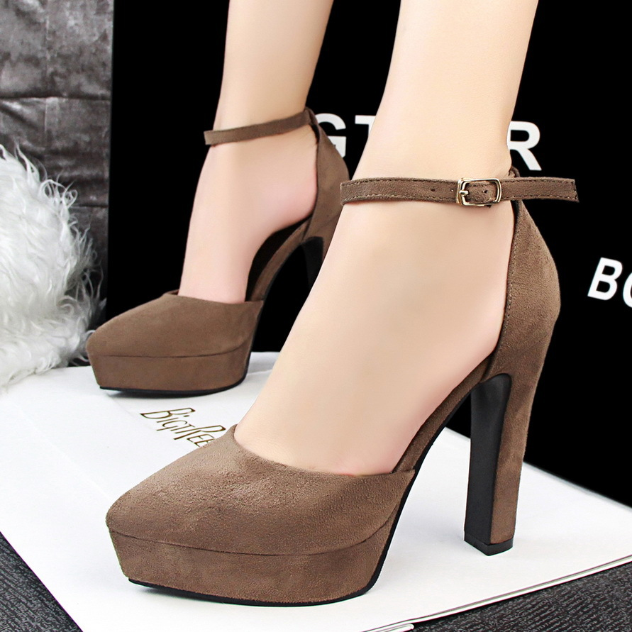 European and American fashion contracted wind thick with women's shoes with high heels waterproof light mouth's main photo