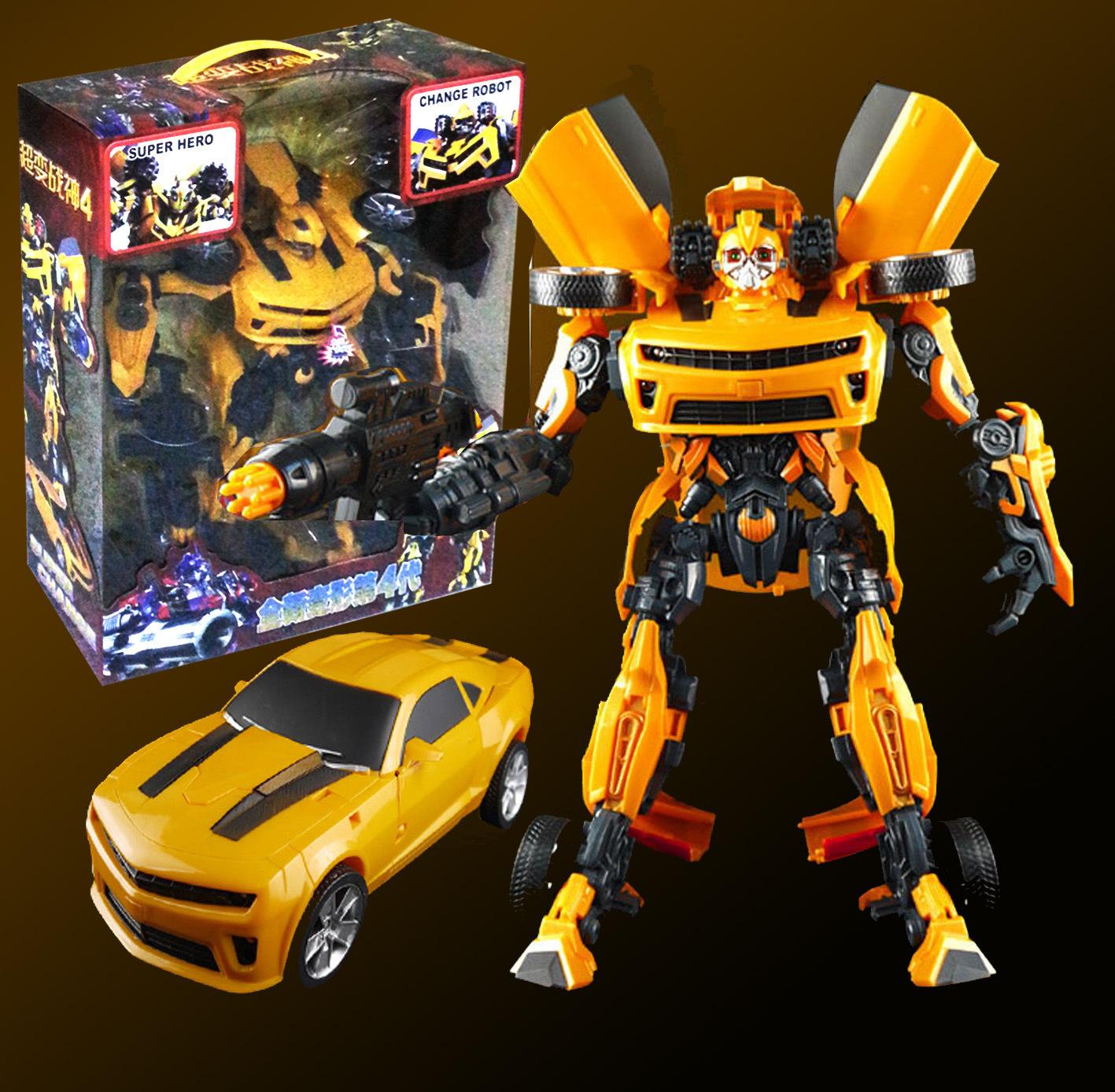 i淘宝阿里爆款 变形金刚大黄蜂 带灯光音乐3C儿童玩具机器人6699