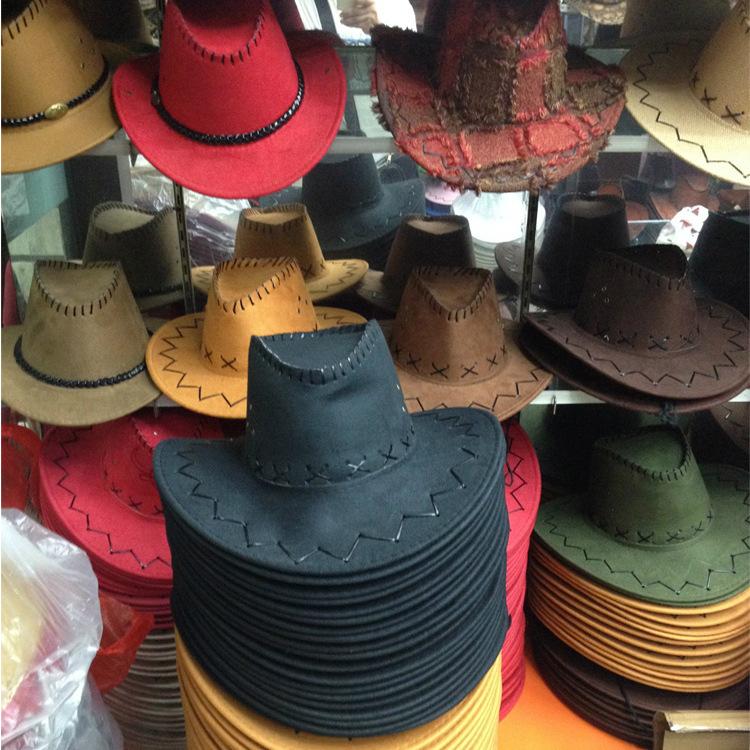 厂家直销西部牛仔帽蒙古帽子草原遮阳帽夏季户外旅游骑士礼帽批发