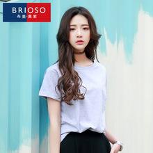 批发夏季韩版宽松短袖女t恤百搭圆领短袖女士打底衫潮一件代发