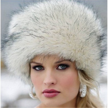 新款女士冬季帽子欧美优质仿皮草帽子狐狸毛保暖时尚帽子现货批发