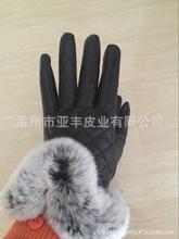 獭兔毛真皮手套 秋冬加绒防风防手冻手套 品质高价格惠