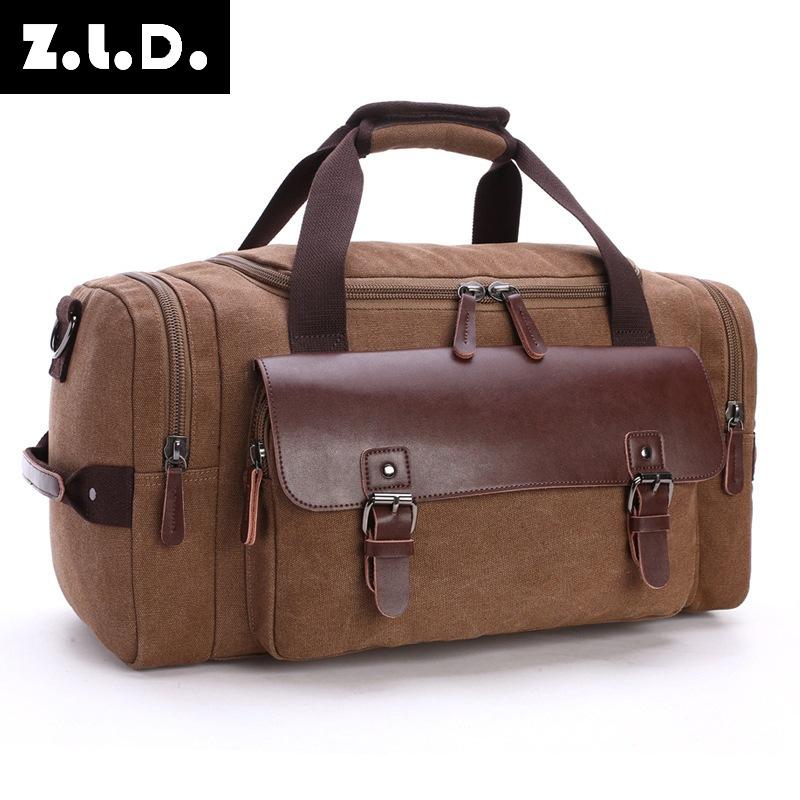 旅行包学生单肩斜挎手提行李包大容量旅行帆布包行李箱包批发