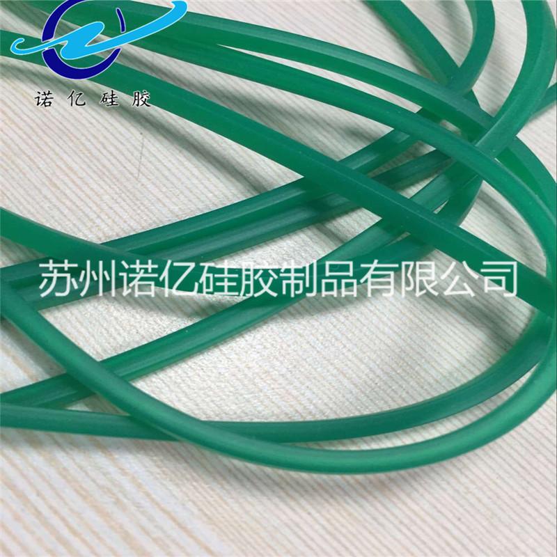 厂家批发 绿色实心60度防水硅胶条 日字形硅胶密封条