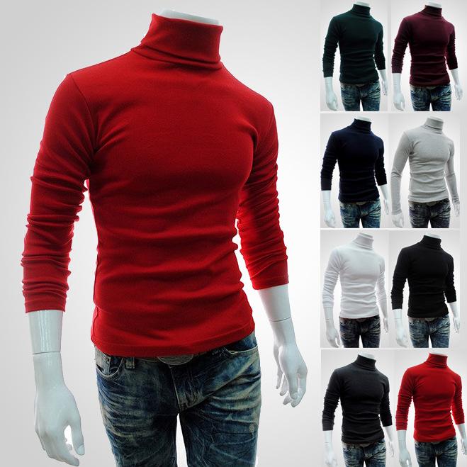男士高領針織衫套頭打底衫長袖麼毛秋冬季批發男百搭款294