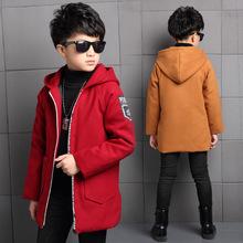 潮童裝新款冬季男童毛呢外套中大童男孩風衣韓版休閑加厚呢子大衣