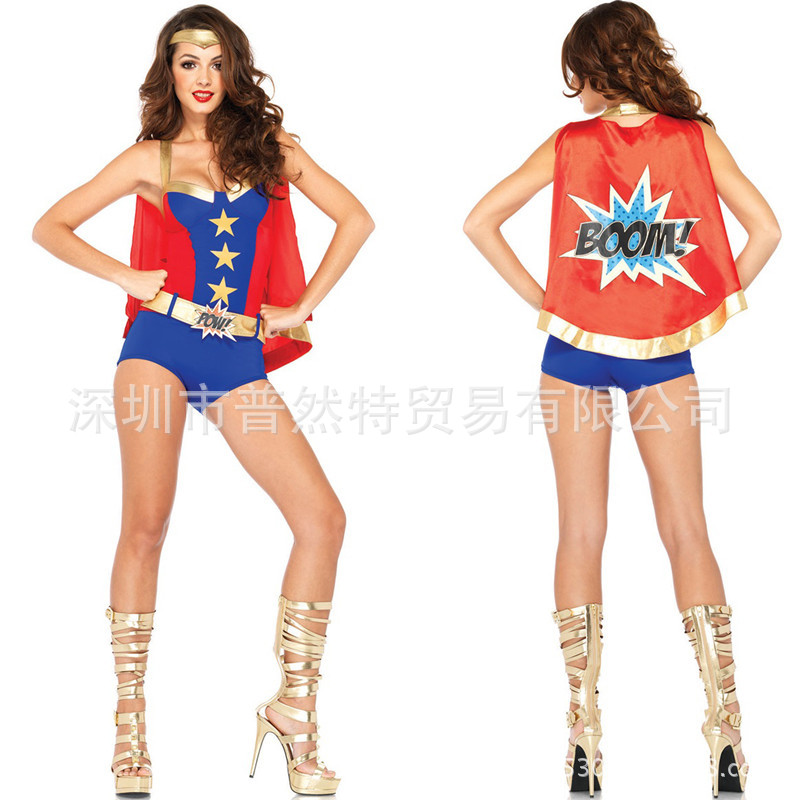sexy charming newest product super hero costume wonder woman