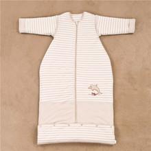 新婴儿保暖服睡袋春秋冬宝宝儿童防踢被彩棉衣服式水桶(送护肚)