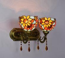 欧式创意水晶蒂凡尼卫生间美式镜前灯乡村复古卧室浴室床头壁灯