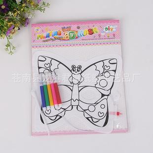 儿童派对diy手绘充气面具, 彩色涂色气球玩具 厂家直销批发