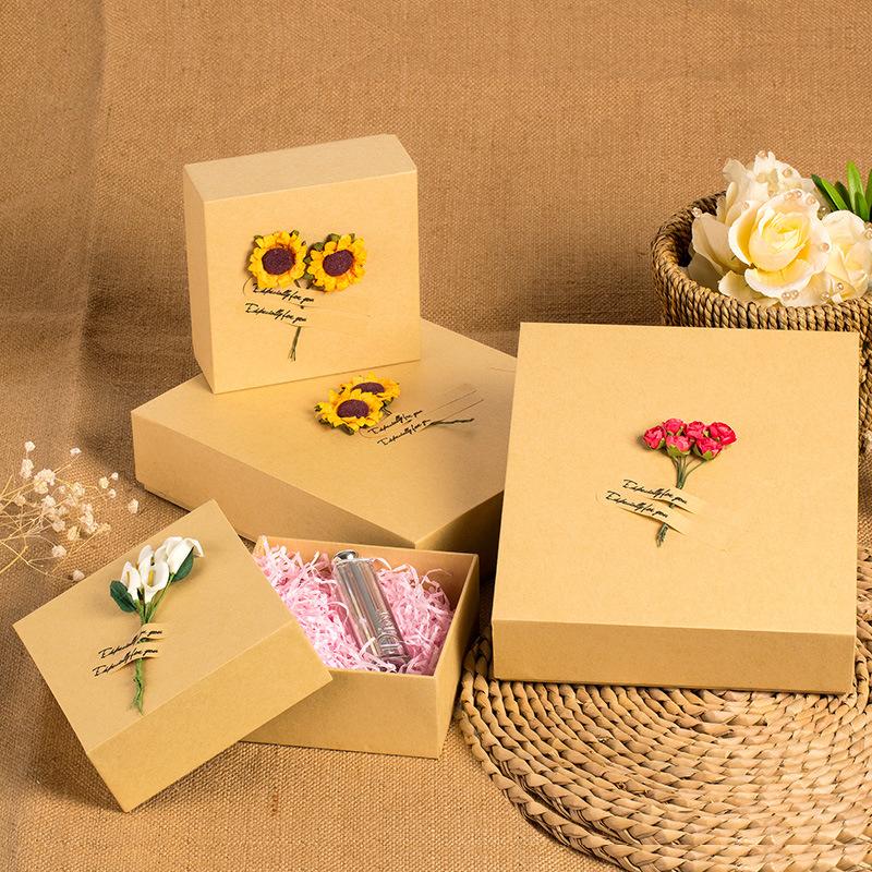 6 精品礼品纸盒婚庆礼物高档包装盒围巾盒商务礼盒大码现货批发 ¥9图片