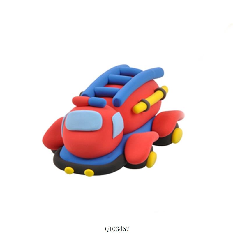 厂家直销 儿童益智diy立体彩泥粘土公仔 超轻粘土车系列-消防车