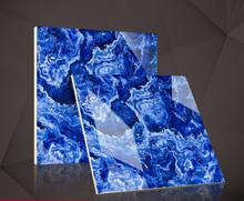 佛山品牌瓷砖 800X800瓷质耐磨防污金刚釉天蓝色通体大理石