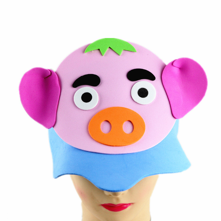 eva12生肖头饰动物头套立体帽幼儿园表演道具舞会派对用品面具
